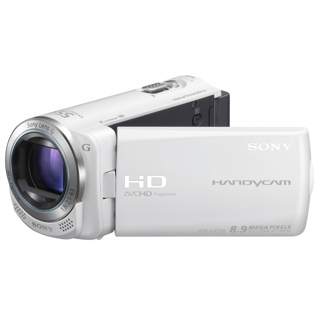 Sony HDRCX250 Caméscopes à mémoire Flash Port SD/Memory Stick Full HD 8,9 Mpix Zoom optique 30x Blanc product image