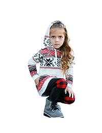 Dumanfs Mom & Girl Family Hoodie Sweatshirt, Baby Women Christmas Tops Outfits