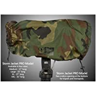 Vortex Media Pro Storm Jacket Cover for an SLR Camera with a Large Lens Measuring 14 to 23 from Rear of Body to Front of Lens, Color: Camo
