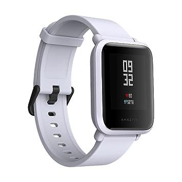 Reloj inteligente QHJ Xiaomi Mi Amazfit Bip con Bluetooth, pulsómetro, podómetro, GPS y monitor del sueño, resistente al agua IP68., gris: Amazon.es: ...
