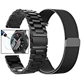 Gear S3 Frontier/Classic Watch Bands, Valkit 22mm Stainless Steel Band + Milanese Loop Mesh Replacement Bracelet Metal Strap for Samsung Gear S3 Frontier / S3 Classic Smart Watch