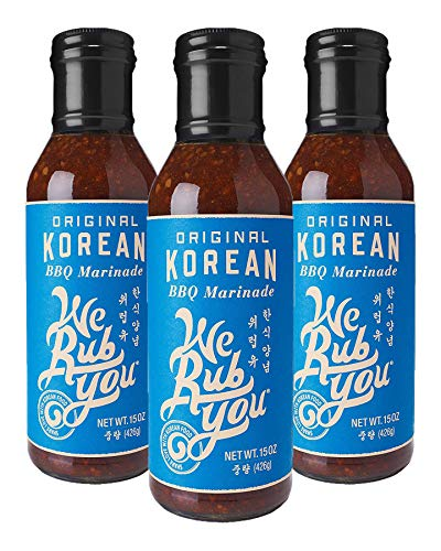We Rub You Original Korean BBQ Hot Bulgogi Sauce & Marinade 15 OZ (Pack - 3) (Best Korean Bbq Marinade Recipe)