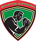 South Africa Rugby Label Home Decal Vinyl Sticker 12'' X 14''