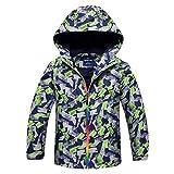 Cool Boys Hooded Softshell Jacket Fleece Lined Waterproof Windbreaker - Gray XXL