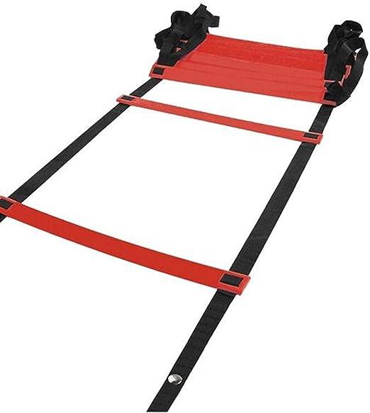 Escalera Deportiva de la escalerade entrenamiento Escalera de agilidad Fútbol Baloncesto Escalera de entrenamiento Entrenamiento de ritmo Escalera de velocidad Escalera de cuerda Rojo Azul Amarillo: Amazon.es: Hogar