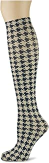 product image for Sox Trot HOUNDSTOOTH/FOSSIL - Printed Nylon Knee-Hi's