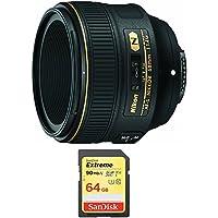 Nikon AF-S NIKKOR 58mm f/1.4G Lens and 64GB Card Bundle - Include Lens and Memory Card