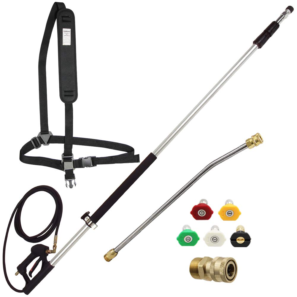 Twinkle Star 4000 PSI Commercial Grade Telescoping Pressure Washer Wand for Pressure Washers with Belt by Twinkle Star