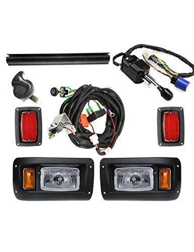 CLUB CAR DS Deluxe Light Kit--------------Halogen Headlight/LED Taillight with turn signal switch and horn