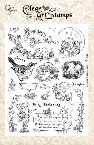 - Crafty Secrets Large Art Stamp, Fairyland, Clear