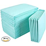Disposable Incontinence Bed Pads,Leak-Proof Breathable Disposable Underpads for Adults, Children and Pets,Hospital High Absorbency Disposable Waterproof Bed Pads (36Lx23W,30Pads)