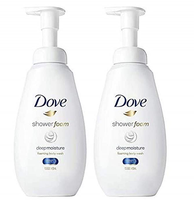 Dove Shower Foam Body Wash Deep Moisture 13.5 oz, Twin Pack