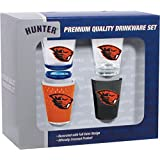Hunter Manufacturing NCAA Oregon State Beavers Shot Glass Collector Set (4-Piece), 2-Ounce, Clear