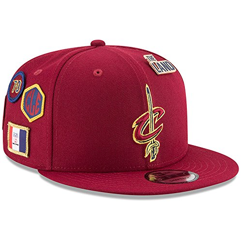 - New Era Cleveland Cavaliers 2018 NBA Draft Cap 9FIFTY Snapback Adjustable Hat- Wine