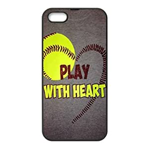 WEUKK softball iPhone 5,5S,5G cases, personalized phone case for iPhone 5,5S,5G softball, personalized softball cover case