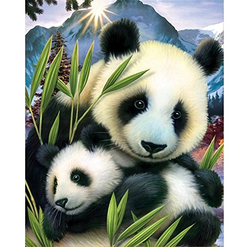 - Mobicus Blxecky 5D DIY Diamond Painting By Number Kits,panda(12X14inch/30X36CM)