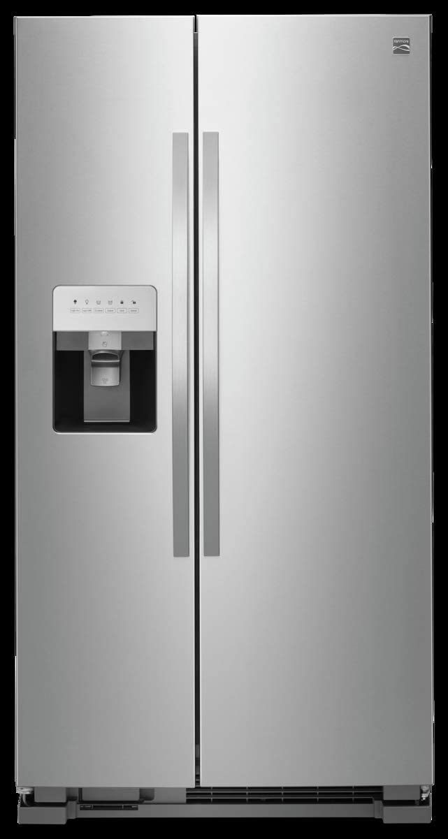 Kenmore 50043 25 cu. ft. Side-by-Side Refrigerator with Water and Ice Dispenser in Stainless Steel, includes delivery and hookup