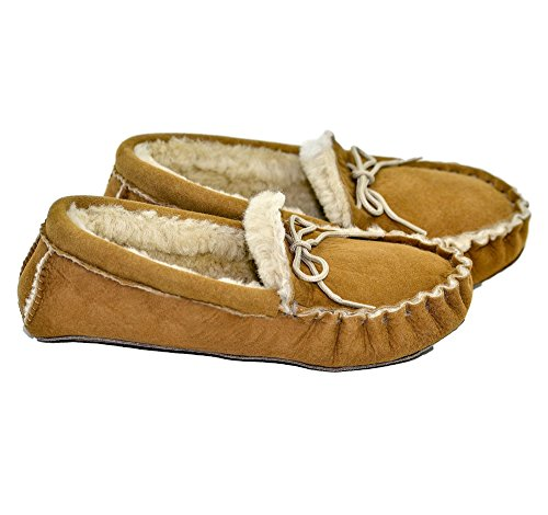 Firm Tan Handmade Face Traditional Pure Slim Sheepskin a Twin Moccasins with Sole wqg6zAgP