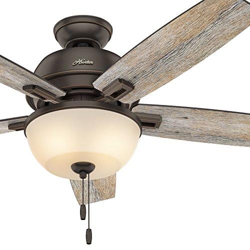 rustic low profile ceiling fan - 1