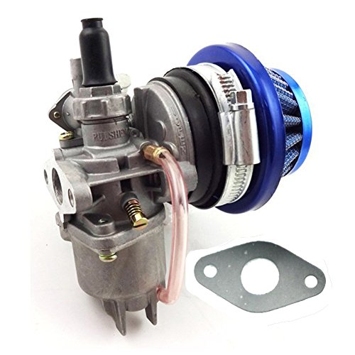 Fuerdi Carburetor Carb 44mm Air Filter Stack For 47cc 49cc Mini ATV Quad Dirt Pocket Bike Cag Mini Moto Moped Scooter Motocross