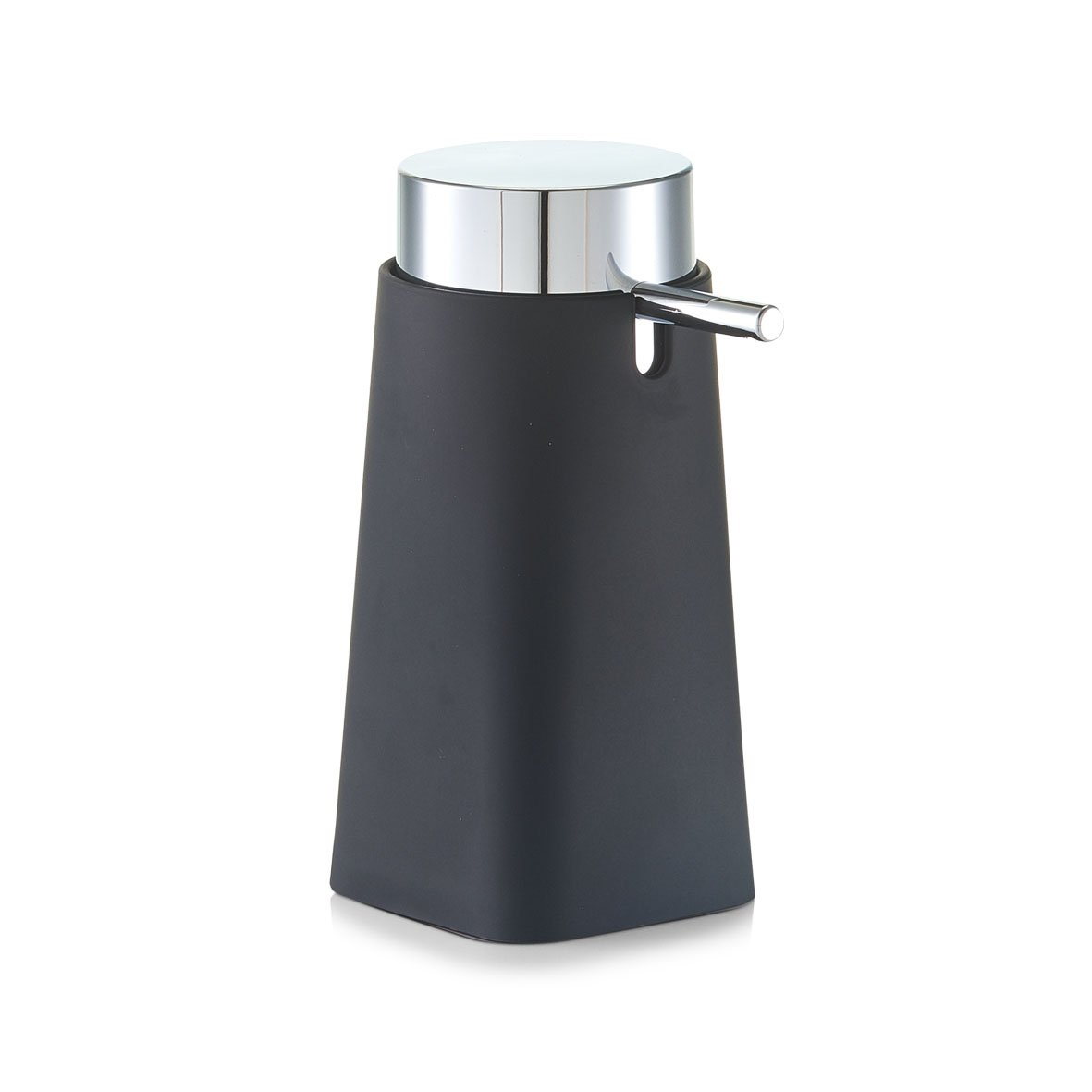 Zeller 18753/ Argento /Dispenser per sapone Glitter 10.3/x 10.3/x 14.5/cm Gres