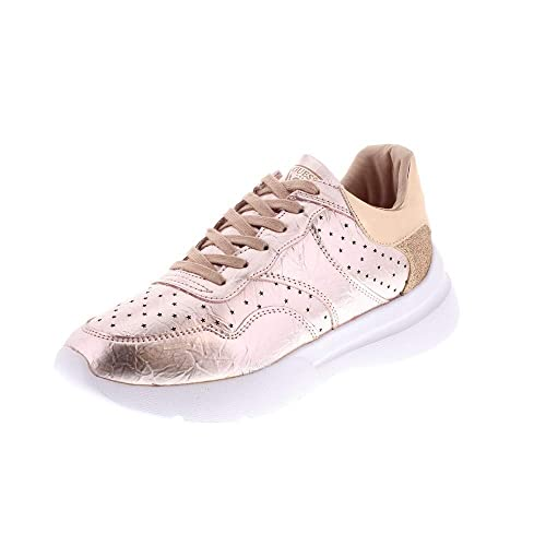 Guess Mujer Zapatillas de Gimnasia Rosa Size: 35 EU: Amazon.es: Zapatos y complementos