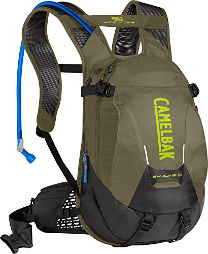 CamelBak Skyline LR 10 100 o Hydration Pack, Burnt Olive/Lime Punch
