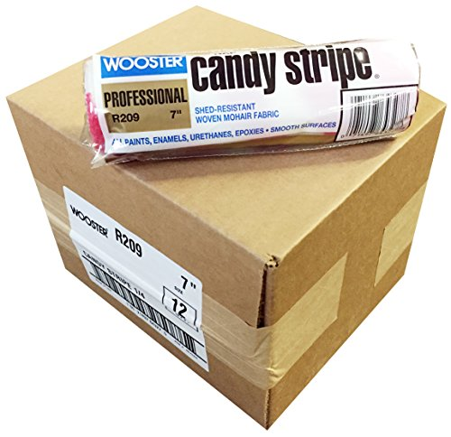 Red Candy Stripe (Wooster Brush R209-7 Candy Stripe Roller Cover 1/4