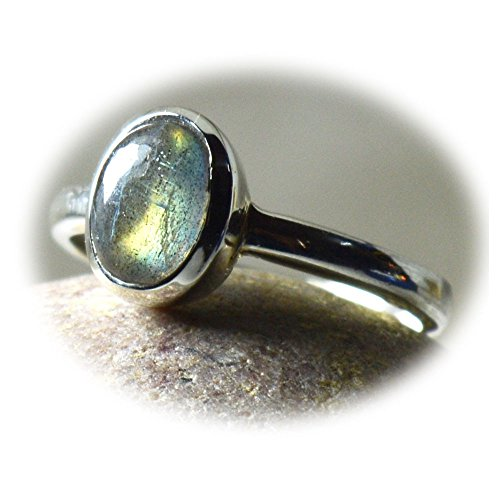 Gemsonclick Natural Labradorite Simple Rings Bezel Setting 925 Sterling Silver Gemstone Jewelry Size 4-13 from Gemsonclick