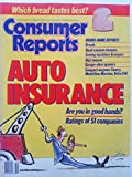 Consumer Reports October 1988 - Auto Insurance: Are You in Good Hands? Ratings of 51 Companies/ Comapact Wagons: Camry, Medallion, Maxima, Volvo 240/ Brand-Name Reports: Breads, Hand Vacuums, Sewing