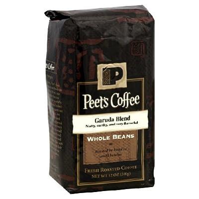 Peets Coffee, Garuda Blend, Whole Bean, 12oz Bag (Pack of 2)