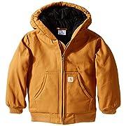 Carhartt Little Boys' Toddler Active Jacket, Brown, 2T