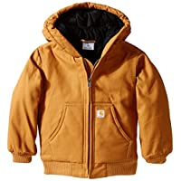 Carhartt Baby Boys' Active Quilted Flannel Lined Jacket, Carhartt Brown, 12 M...