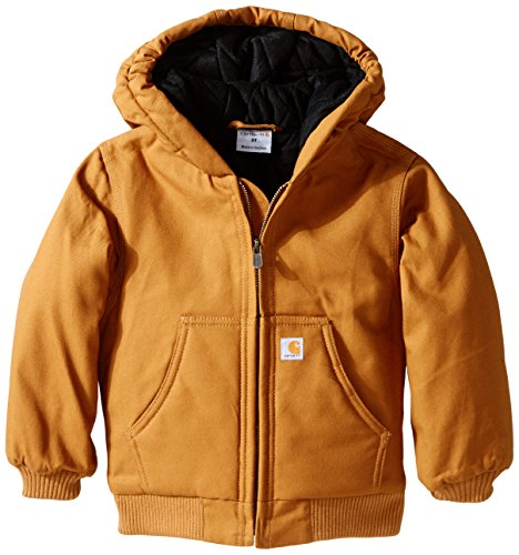 Carhartt Little Boys' Toddler Active Jacket, Brown, 2T (Flannel Label)