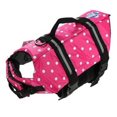 Assorted Color Choice Pet Dog Saver Life Vest Coat Flotation Float Life Jacket Aid Buoyancy Medium (Pink)