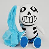 Undertale Sans Plush Doll Toy Pillow Cushion Gift Cosplay Prop 30cm (Blue)