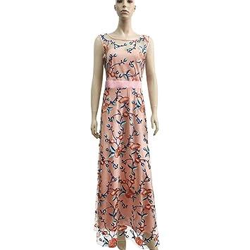 Sbl Bestickt Floral Kleid Mode Abendkleid Damen Luxus Ärmelloses EYeD2I9WH