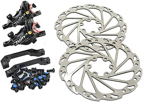 JUIN TECH R1 Hydraulic Road CX Disc Brake set 160mm with Rotor, Front and Rear, Black, JT1902