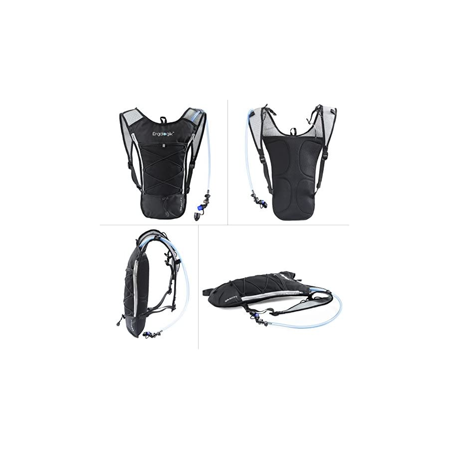 ErgaLogik Gravity 70 Ultralight 2L Hydration Pack Great for Running, Hiking, Cycling and Skiing