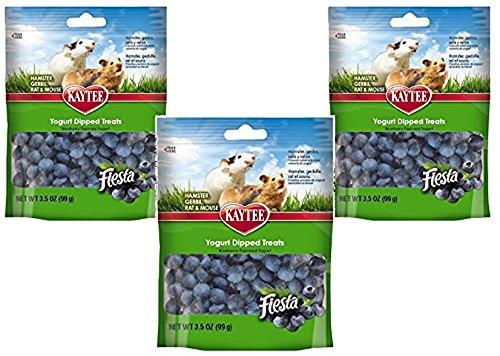 Kaytee Fiesta Hamster - (3 Pack) Kaytee Pet Products Fiesta Yogurt Dipped Small Animal Treats, Blueberry Flavor - 3.5 Ounces per Pack