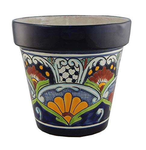 Planter Ceramic Talavera (Mexican Talavera Planter Ceramic Flower Pot Folk Art Pottery Garden Handmade # 12)