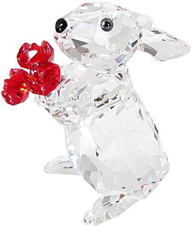 SWAROVSKI Rabbit with Roses Figurines
