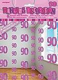 UNIQUE PARTY 55381 - 5ft Hanging Glitz Pink 90th