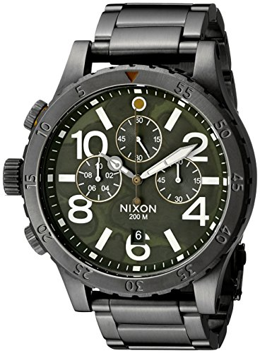 Nixon-Mens-A4862069-48-20-Chrono-Analog-Display-Japanese-Quartz-Grey-Watch