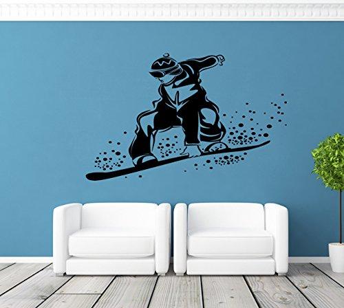 Ik129 Wall Decal Sticker Room Decor Art Mural Freestyle Snowboard Board Snow Mountain Bedroom Room ()