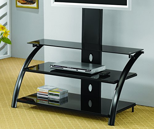Coaster Contemporary Metal Black TV Console with Bracket