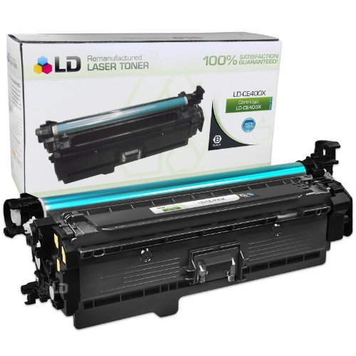 LD © Remanufactured Replacement for HP CE400X / 507X High Yield Black Laser Toner Cartridge for HP LaserJet Enterprise 500 Color M551dn, M551n, M551xh, MFP M575dn, MFP M575f, and MFP M575c