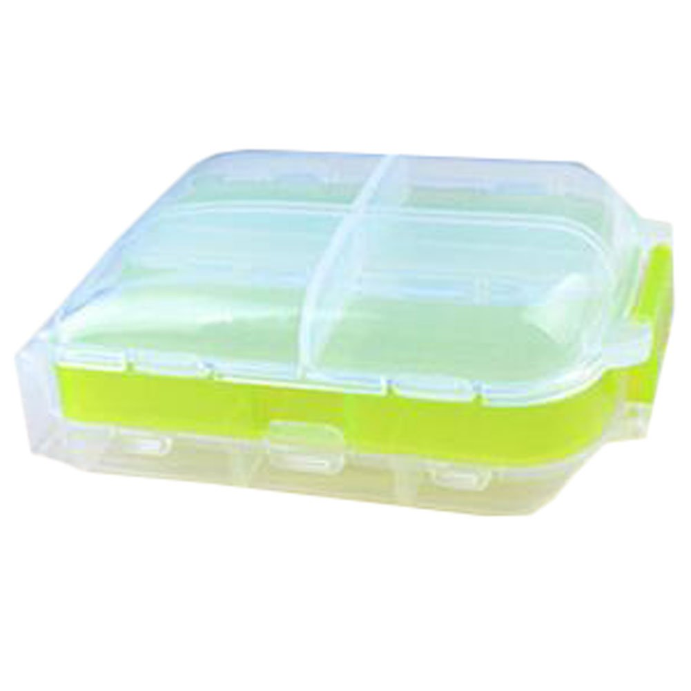 Portable Travel First-Aid Kit Medicine Storage Box Pill Sorter Container Green