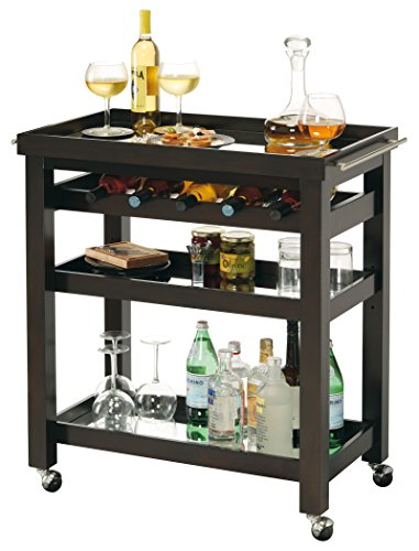 Howard Miller 695166 695-166 Pienza Wine & bar Cart Bar Cabinet (Bar Removable Tray With Cart)