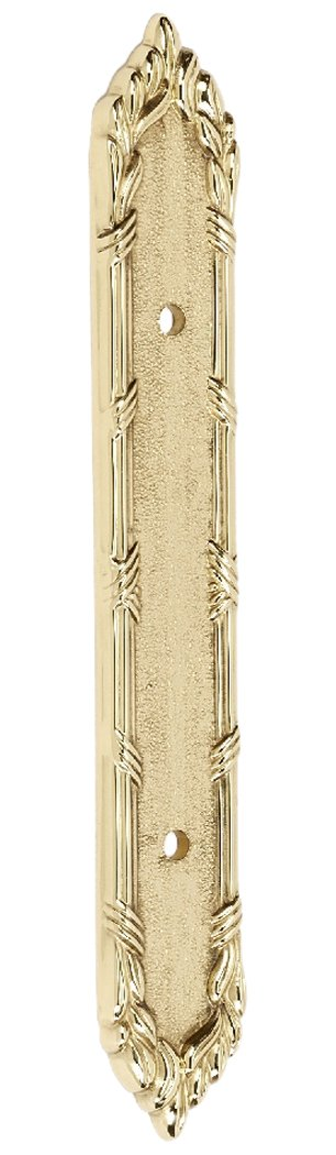 Alno A887-35-PB Ribbon & Reed Traditional Backplates, Polished Brass